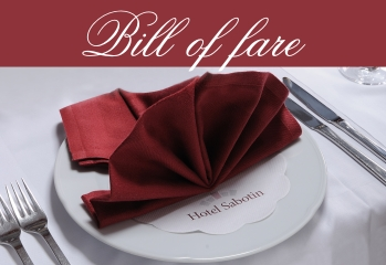 bill of fare